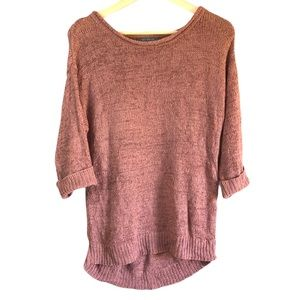 Suzy Shier Oversized scoop neck knit sweater